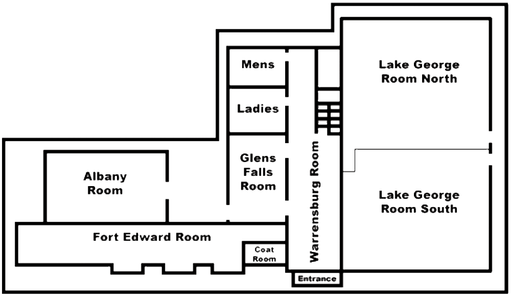 Floor Plan Map of Event Rooms