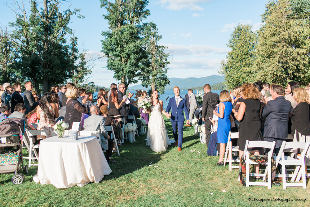 Beautiful wedding Lake George